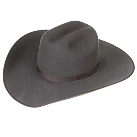 Product# B22X Granite Felt Cowboy Hats Grey ~ Gray