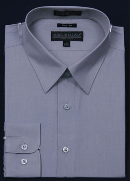Product# KA5671 Slim narrow Style Fit Dress Shirt - Gray Color