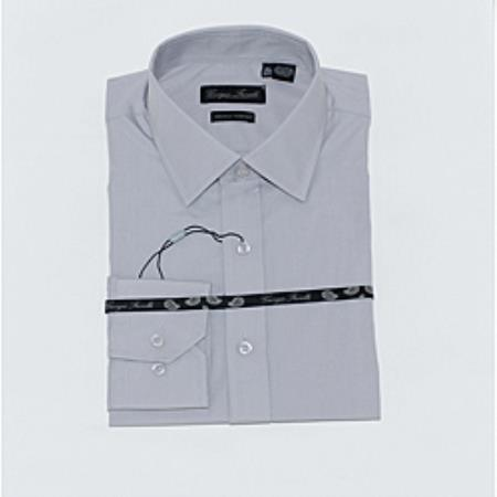 Product# KA6332 Gray Slim-Fit Dress Shirt