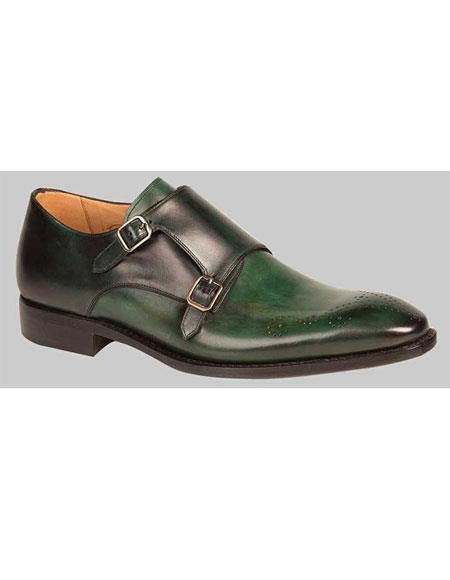 Mens Two Tone Green/Black