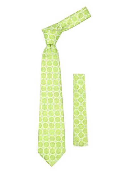 Lime Green Floral Design