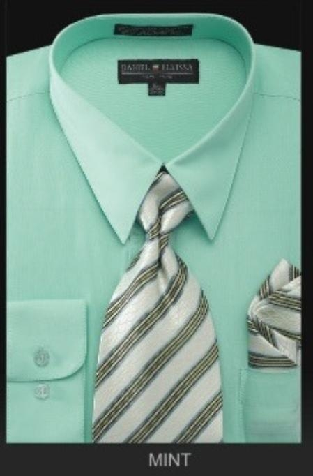 Product# Rz7676 Dress Shirt - Premium Tie - Mint Green Lime