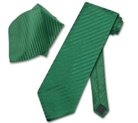 Emerald Green Striped NeckTie