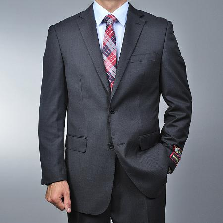 Grey Nailhead 2-button Suit