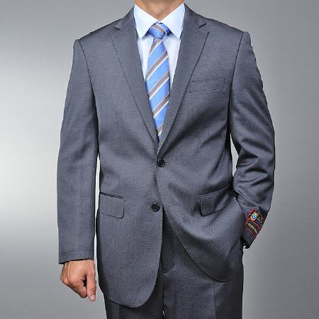 Grey Teakweave 2-button Suit