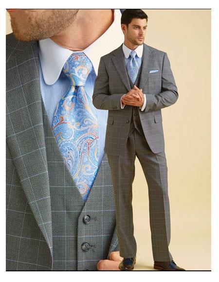 Mens Classic Fit Grey