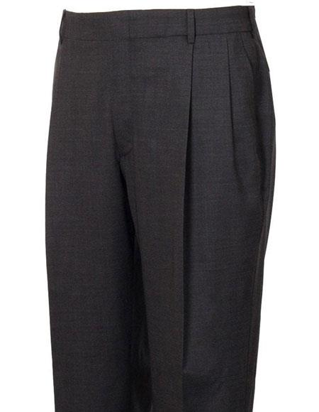 Product# JSM-4294 Mens Stylish Pleated Grey Atticus Classic Fit Wool Pant