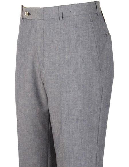 Product# JSM-4301 Mens Bradley Neo Denim Donegal Stylish Flat-Front Grey Casual Pant