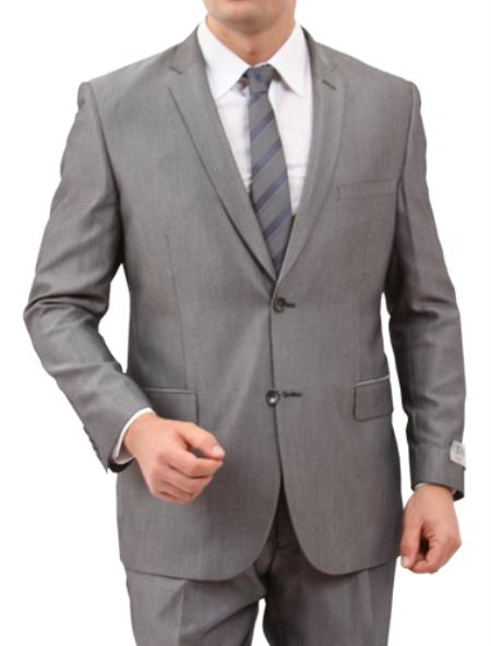 Solid Grey 2 Button
