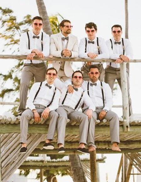 Product# JSM-4704 Groom and Groomsmen Wedding Attire For Man (Call Over the phone to place the order for this look)