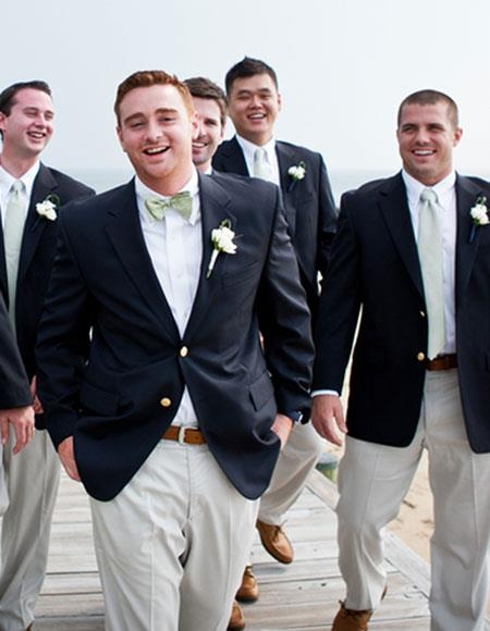 Product# JSM-4718 Groom and Groomsmen Wedding Attire For Man (Call Over the phone to place the order for this look)