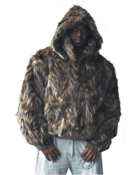 Mens Handmade Fur Natural