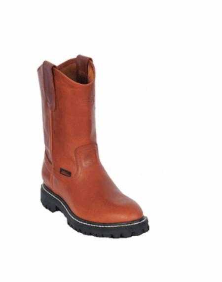 Product# KA1115 Authentic Los altos Grasso Nappa Work Boot with Full Lug Sole Honey