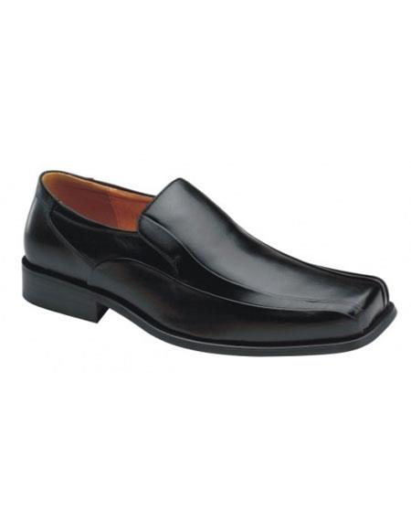 Product# JSM-5638 Zota Mens Italian Design Black Leather Zota Unique Men's Dress Shoes