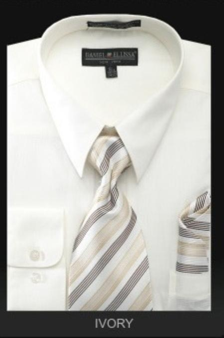 Product# KN7289 Dress Shirt - PREMIUM TIE - Ivory
