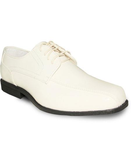 Product# JSM-6067 Men's Oxford Tuxedo Ivory Patent Formal for Prom & Wedding Lace Up Dress Mens Shoes