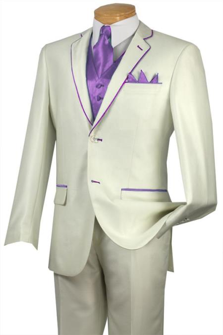 Tuxedo Lavender Trim Microfiber