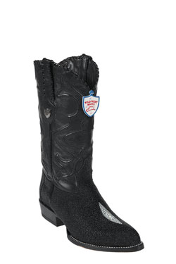Product# JK6389 Wild West J-Toe Liquid Jet Black Single Stone Cowboy Boots
