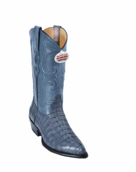 Product# LG6299 Blue Gray Tail J-Toe Cowboy Boots