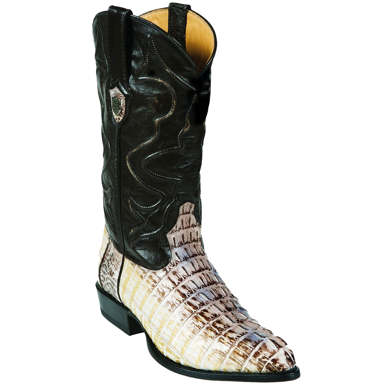 d6685056786 Product# RB7400 Wild West J-Toe Natural cai ~ Alligator skin Tail Cowboy  Boots