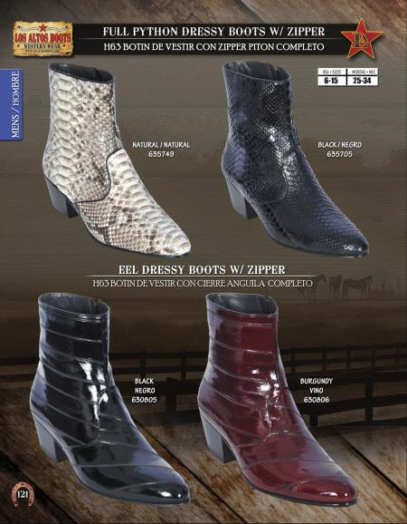 Product#Q99F Authentic Los altos J-Toe Python ~ Snake/Eel Dressy Western Cowboy Boot Diff.Color/Size