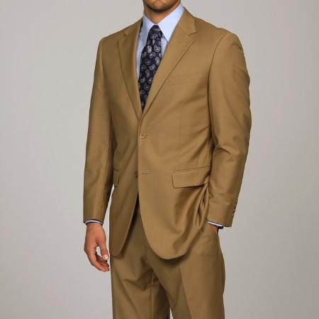 Camel  Khaki 2-button Suit
