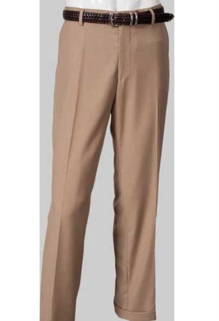 Product# SM843 Flat Front Khaki Slim narrow Style Fit Pants
