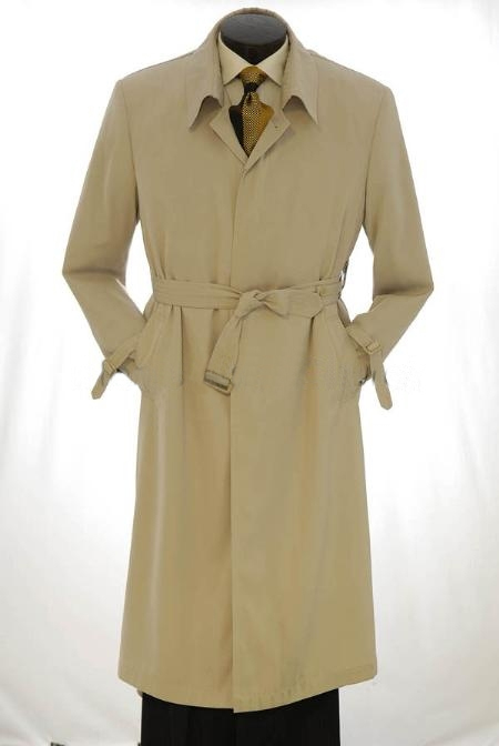 EMIL_CT05 All Weather Best big and tall long Ankle length Full Length Trench Coat ~ Rain Coat Khaki ~ Tan khaki Color ~ Beige