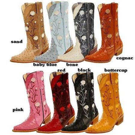 Ostrich Western Cowboy Ladies
