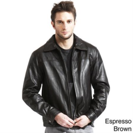 Product# AC-210 Genuine Lambskin Leather Jacket Black,brown color shade Available in Big and Tall Sizes