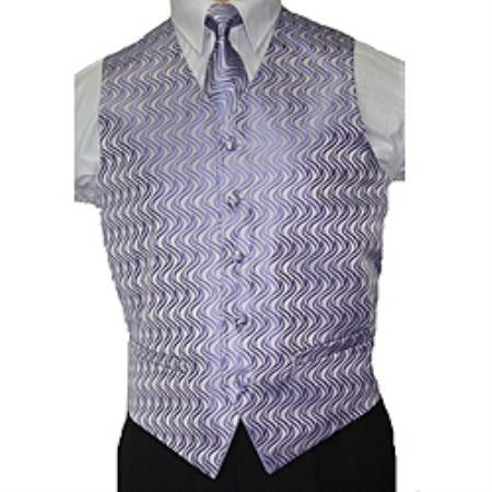 Lilac Lavender Vest Tie