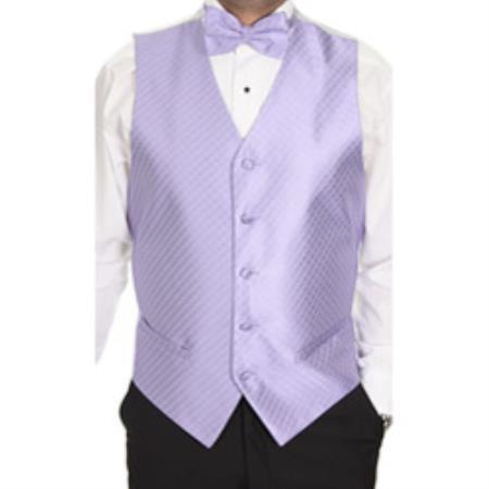 Lavender Patterned 4-Piece Vest