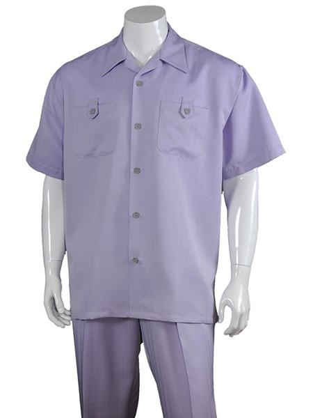 Mens 5 Button Lavender