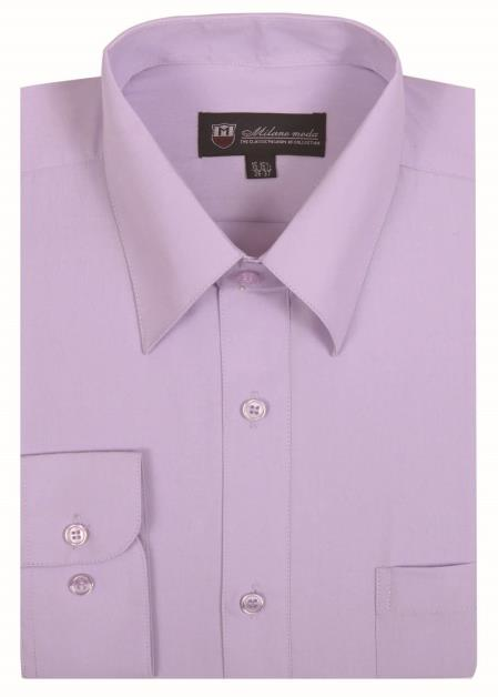 Mens Plain Solid Lavender