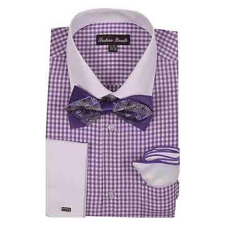 Checks Design Dress Shirt
