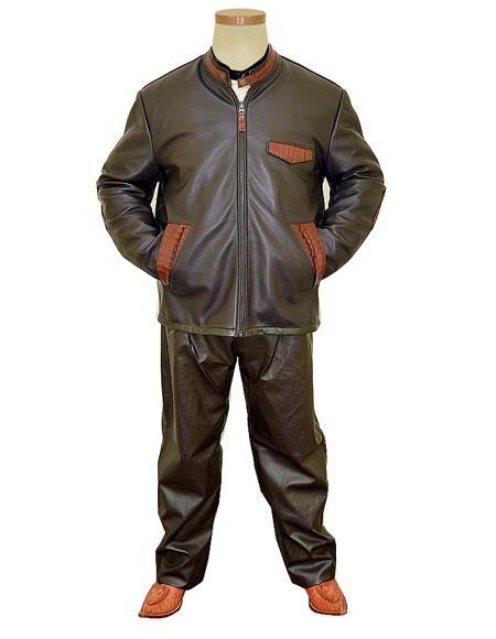 G-Gator Mens Genuine Leather/Alligator