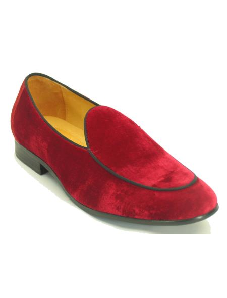 Carrucci Mens Red Genuine