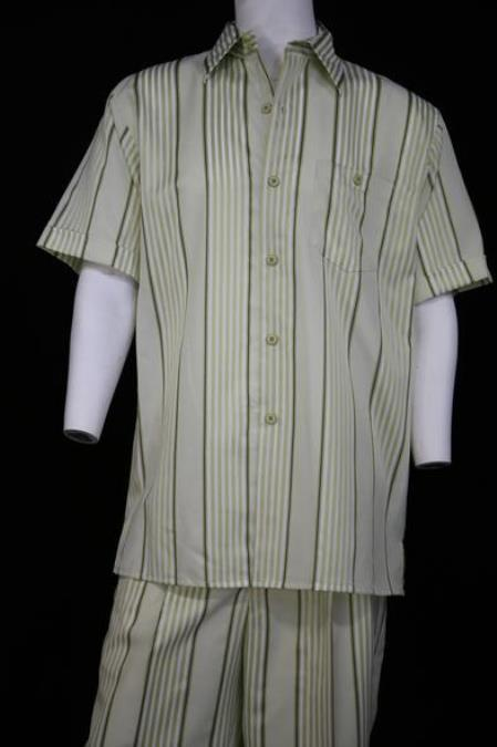 Mens Lemongrass Stripe Short