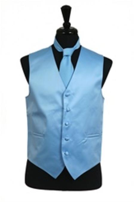 Vest Tie Set Light Blue