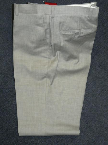 Product# KA1239 09 light gray 100% Wool Fabric , Superior Fabric 140'S Solid ~ plain FRONT PANTS