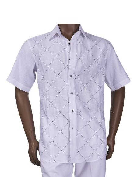 Mens Linen Diamond Pattern
