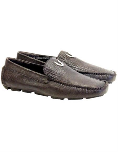 Mens Vestigium Brown Genuine