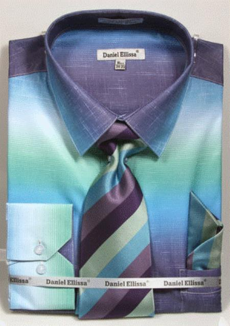 Product# GD1496 Mens colorful dress shirts Aqua