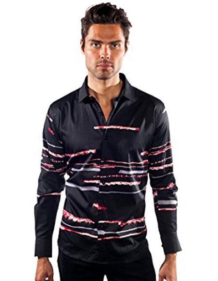 Barabas mens Striped Black
