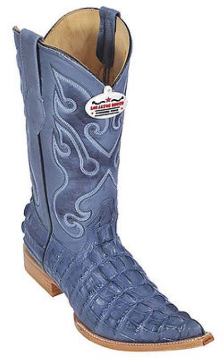 Product#KA2889 Croc Tail Print Riding Blue Jean Authentic Los altos Western Boots Cowboy Classics