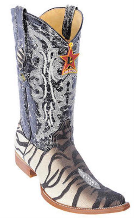 Product#KA5552 Stingray skin Print Design Authentic Los altos brown color shade WESTERN Cowboy Boots XXX 3x Toe
