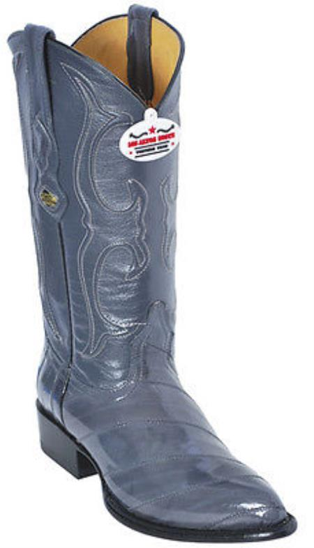 Product#KA8520 Eel Classy Gray Authentic Los altos Western Boots Cowboy Classics Style