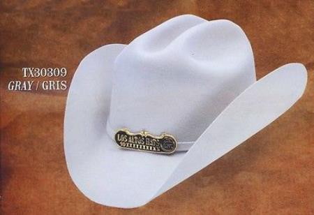 Product# PN70 Cowboy Hat Duranguense Style 10X Felt Hats By Authentic Los altos Gray