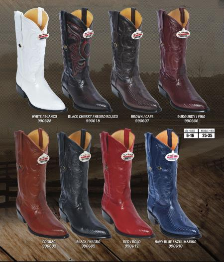 Product#A-3829 Authentic Los altos J-Toe Genuine Ring Lizard Western Cowboy Boots Diff. Colors/Sizes
