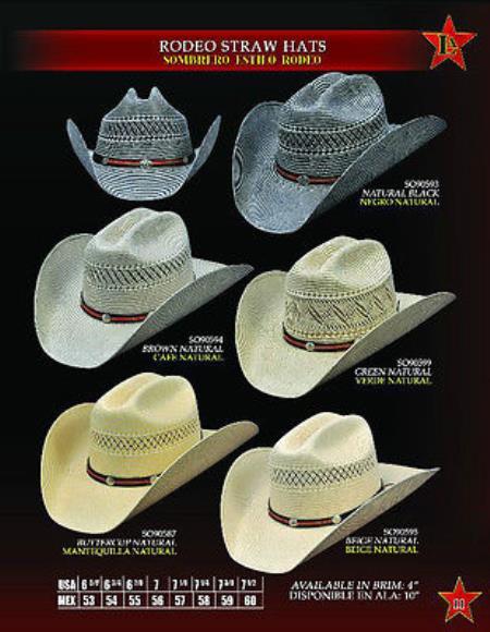 Cowboy Western Rodeo Straw